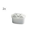 1 Liter Nachfüllset / Refill-Set Aquintos passend für Tischwasserfilter mit Maxtra / Unimax / Multimax Wasserfilter ( mit 1 Liter Filtergranulat AQTE1000 & 2 Refill-Filtern)