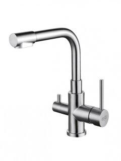 Aquintos SUPREME 3-Wege Wasserhahn Nickel satiniert matt gebürstet style Lux