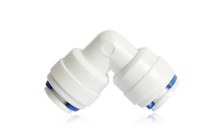 """Aquintos Easy & Quick Steckerbinder 1/4""""  x 1/4"""" - 90° Easy Quick Schlauchanschluss"""