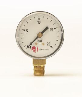 """Manometer für Filtergehäuse in 1/8""""AG"""