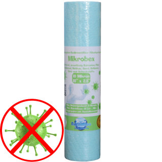 Antibakterieller Trinkwasserfilter 10  x 2,5 Zoll in 10µm -  nanosilver technology