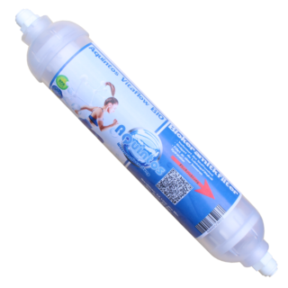 Aquintos Vitaflow BIO Inline-Kartusche Biokeramik Wasserfilter 10 x 2 Zoll - Easy Quick Steckanschluss 1/4 Zoll