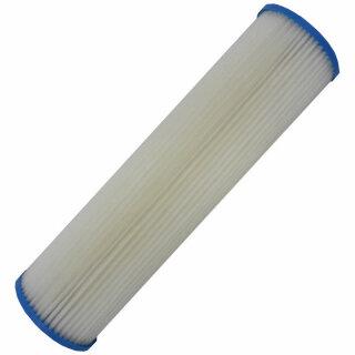 BIG Blue Jumbo Lamellenfilter Faltenfilter 20 x 4,5 Zoll 50 Micron Mehrwegfilter aus Cellulose