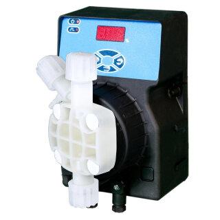 Aquintos Pool-Flex 08-10-W Dosierpumpe für Schwimmwasseraufbereitung mit pH Wert, Redox, und freiem Chlor- Kontroll- Regelzähler