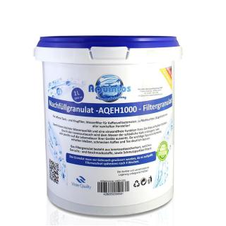 Aquintos Kalkschutz++ Nachfüll Granulat für Wasserfilter Kaffeevollautomaten Tischwasserfilter Filterpatrone Aquintos-Water-Technologie 1Liter Refill Filtergranulat AQEH auch für sehr hartes Wasser geeignet.
