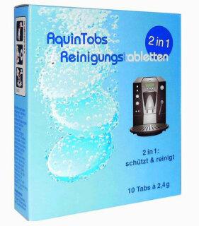 AquinTobs 2in1 Reinigungstabletten 10 x 2,4g passend für Siemens EQ Series TZ80001B TZ80001B Espressomaschine und Bosch VeroBar TCZ8001A TCZ8001N TCZ8001 Reinigungstabletten