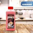 AquinTobs 2in1 Entkalker Kalklöser passend für DeLonghi Melitta Nivona BSH Bosch Siemens AEG Jura WMF und Gastro Kaffeevollautomaten Espressomaschinen inkl. Indikator und zu 100% biologisch abbaubar