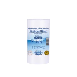 Polypropylen - Sedimentfilter in 5 x 2,5 Zoll in 50 Mikron