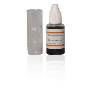 Wasserhärte messen Wasserhärte bestimmen Titrierlösung in °dH Wasserhärtemessbesteck Aquintos Einzelpackung