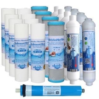 20 Ersatzfilter Osmose Filter Umkehrosmose für 2 Jahre Wasserfilter Membrane Neu