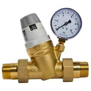 Druckminderer 1/2 Zoll DN15 Druckregler für Trinkwasser und Brauchwasser DIN DVGW-geprüft + Manometer