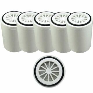 5 x Aquintos Ersatzfilterpatrone für Duschfilter