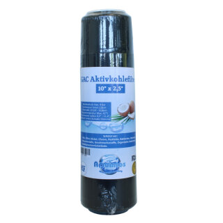 Aquintos Aktivkohlefilter Trinkwasserfilter GAC Granulat-Aktivkohle 10 x 2,5 Zoll