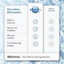 Montageset Anschlussset 3 für Wasserenthärtungsanlagen Anschluss-Armartur Bypassventil 2 x HDPE Edelstahl-Flexschlauch 50cm 1 Zoll + Titrierlösung