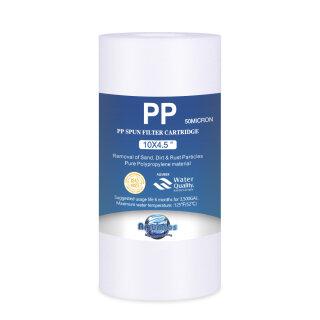 BIG Blue Jumbo Polypropylen Sedimenfilter PP BB10 10 x 4,5 Zoll 50 micron
