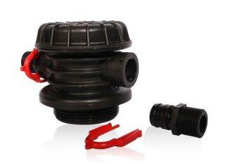 Anschluss Adapter mit Schnellverschluss in AG3/4 für Polyglass Drucktanks mit 2,5 Zoll Öffnung