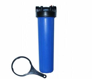 Big Blue Filtergehäuse Trinkwasserfilter 20 x 4,5 Zoll mit 1 Zoll IG -  DN25 und 2 O-Ringe + Filterschlüssel