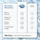 Montageset Anschlussset 5 für Wasserenthärtungsanlagen Anschluss-Armartur Bypassventil 2 x HDPE Edelstahl-Flexschlauch 100cm 1 Zoll + Titrierlösung