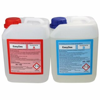 EasyDes Dosiermittel zurTrinkwasserdesinfektion beseitigung Biofilme 2,5 L A + B