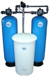 Aquintos MDC 1400 WS 1,5 CI Doppel-Enthärtungsanlage-Pendelanlage-Wasserenthärtungsanlage-Entkalkungsanlage-Weichwasseranlage-Wasserenthärter mit separatem Salz,- Solebehälter für Industrie und Gewerbe