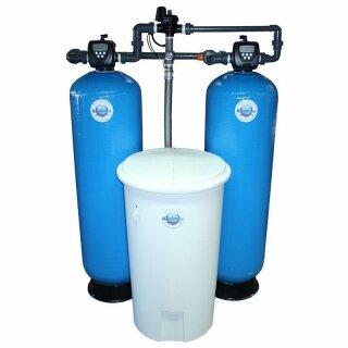 Aquintos MDC 1000 WS 1,5 CI Doppel-Enthärtungsanlage-Pendelanlage-Wasserenthärtungsanlage-Entkalkungsanlage-Weichwasseranlage-Wasserenthärter mit separatem Salz,- Solebehälter für Industrie und Gewerbe